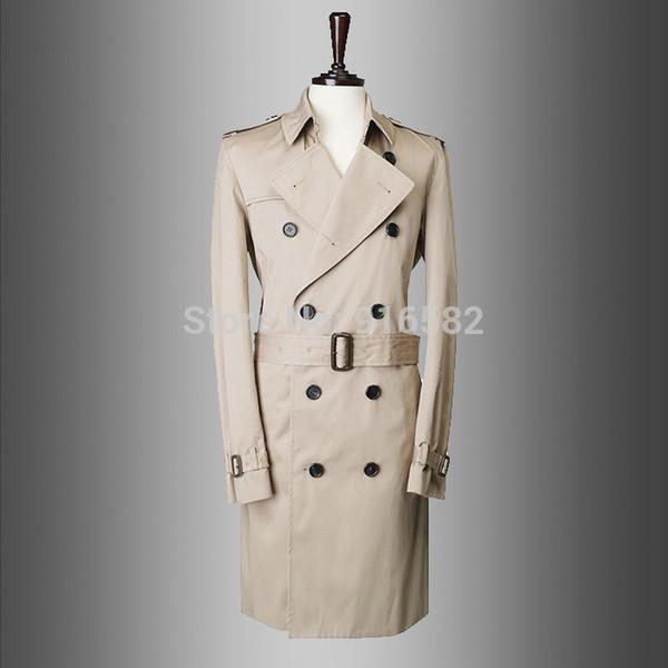 Fall- casual brand cheap men winter trench manteau homme pea coat overcoat jacket male windbreaker parka casaco masculino 759