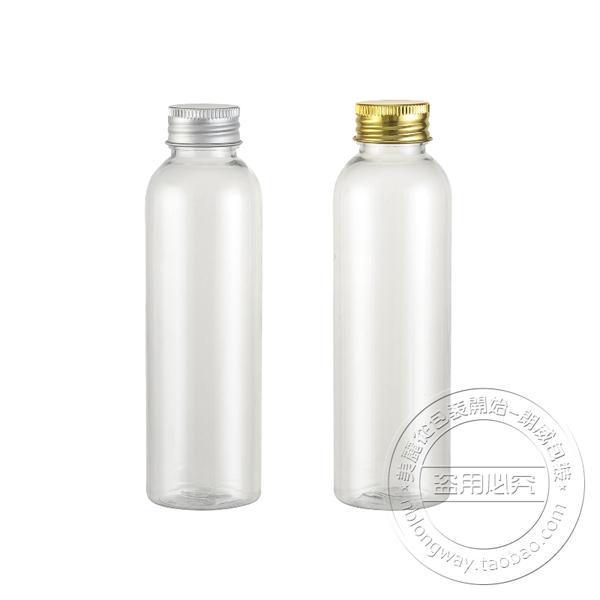 free shipping Capacity 120ml 30pcs/lot Transparent aluminum cap bottles, pure dew bottle, plastic bottles, aluminum cover plug