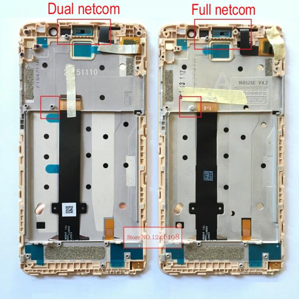 """Wholesale- 5.5"""" Redme note3 LCD Display Touch Screen Digitizer Assembly +Frame For Xiaomi Redmi note3 Pro / prime hongmi note 3 Phone Parts"""