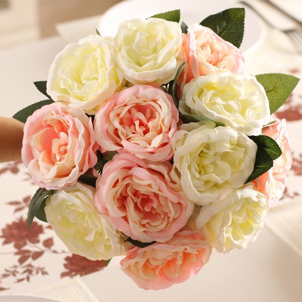 Silk artificial flowers simcer rose home decorations and party wedding decorative free shipping hot sell item good quality