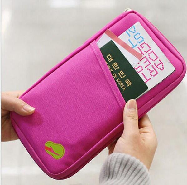 Portefeuille de voyage Sac de passeport Carte de crédit Carte en espèces Porte-billets Porte-billets Étui en toile Portefeuille de voyage livraison gratuite
