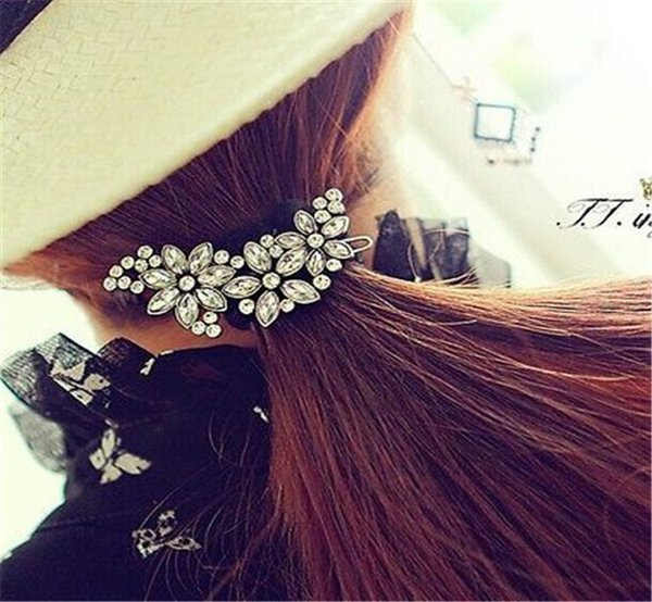South Korea Authentic Crystal Studded Comb Hair Hair Plug Costly Diamond Twist Plug Combs Women Bridal Wedding Party Hair Clip Comb Pin