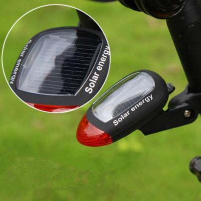 Free shipping Sport MTB Cycling Tail Rear Red Light Solar Power Bike Bicycle LED Lamp Seatpost Taillight with Clamp Fashion