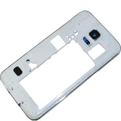OEM Samsung Galaxy S5 i9600 G900A G900V G900T Rear Back Housing Middle Bezel Frame Camera Lens Cover Silver