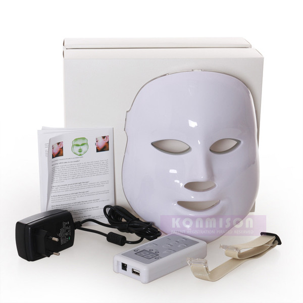 PDT Photon LED Facial Mask Skin Rejuvenation Beauty Therapy 3 Colors Lights Red Blue Green For Pigmentation Correction DHL Free Shipping CE