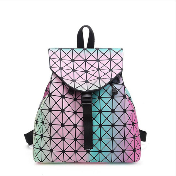 9b4d0c22155c Wholesale Women Backpackfemale Fashion Girl Daily backpack Geometry Package  Sequins Folding Bags Student backpack free shipping