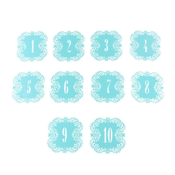 10pcs Vintage Wedding Table Number Table Cards Hollow Laser Cut Card Numbers Wedding Party Decoration Wedding Supplies Party Fav