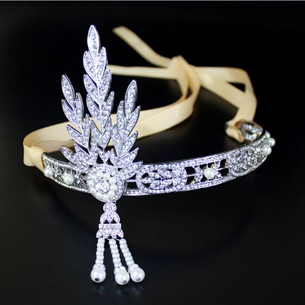 Top quality Original Edition Gatsby Headpiece Wedding Bridal Hair Accessories Bride Headband Tiaras Jewelry Free Shipping