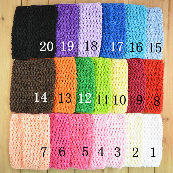20 Colors Baby Girls 6 inch Crochet Tutu Tube Tops Chest Wrap Wide Crochet headbands 15cm X 15cm