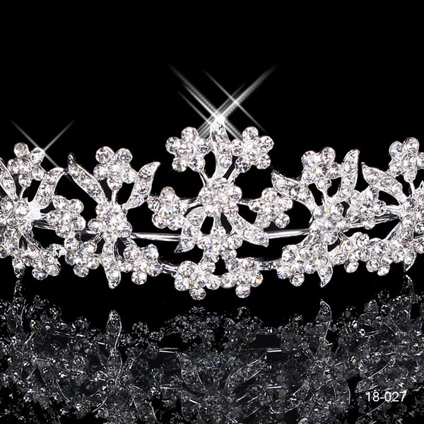 18027 Free Shipping Rhinestone Crystal Wedding Party Prom Homecoming Crowns Band Princess Bridal Tiaras Hair Accessories Fashion Custom Made