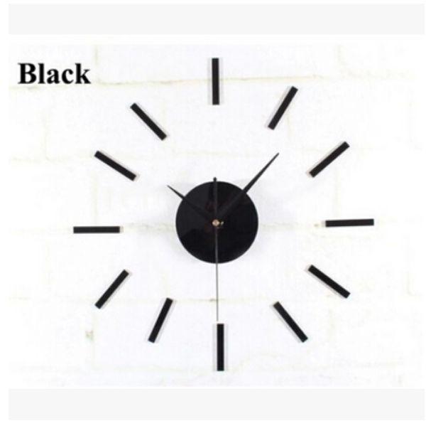 top popular Black Quartz Wall Clock Movement Mechanism 3 White Hands DIY Repair Parts Kit Free Shipping, dandys 2020