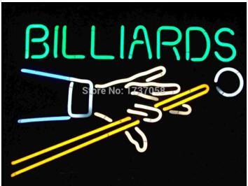 "Billiards Player Neon Sign Handmade Custom Real Glass Tube Game Room Sport Bar Club KTV Store Advertising Display Neon Signs 17""X14"""