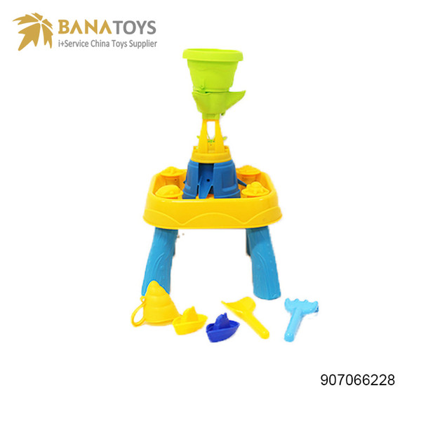 Free shipping Summer outdoor beach toys sand and water play table fun multiplayer toy tools set children gift Fess Shipping