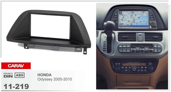 CARAV 11-219 voiture 2DIN fascia planche de bord panneau cadre pour HONDA Odyssey 2005-2010 Stéréo Fascia Dash CD Trim Kit d'installation
