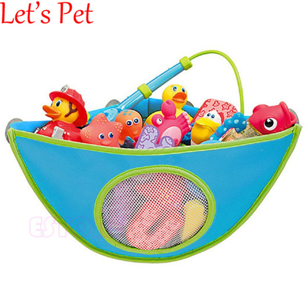 Wholesale- Let's PetBabyToy Mesh Hanging Storage Bag Bath Bathtub Waterproof Toy Organizer Suction Bathroom Stuff Baby Care Home Decoration