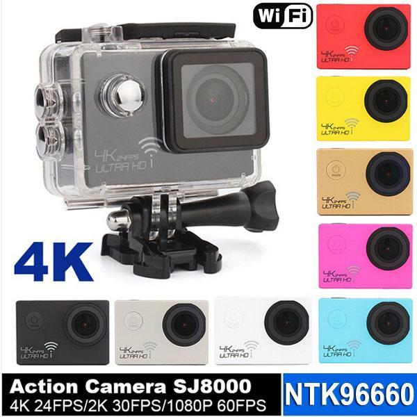 top popular Ultra Real 4K 24FPS WIFI Action Camera 30m Waterproof 2.0 inch Full HD1080P 60fps SJ8000 Sport camera Video helmet Camcorder Novatek 96660 2020