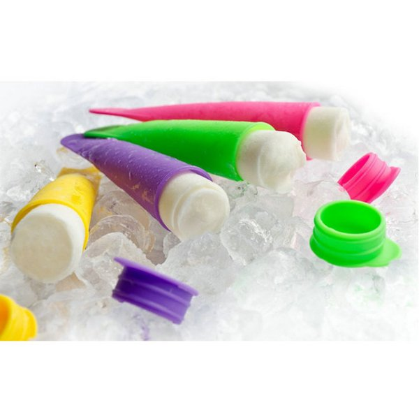 HOT SALE 10 Colors 100% Food Grade silicone popsicle mold / ice pop molds / ice cube tray / ice cream tubs tools