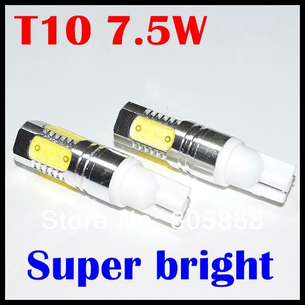 2X T10 7.5w High Power bulb led wedge bulb 194 168 192 W5W lamp for car reverse light 2X Adual-use Auto xenon wedge bulb parking