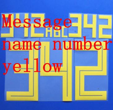 Message name number yellow