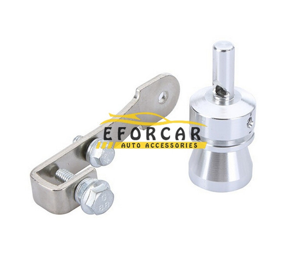 Aluminum Universal Turbo Sound Whistle Exhaust Pipe Muffler Tailpipe BOV Blow-off Valve Simulator Whistler Size M