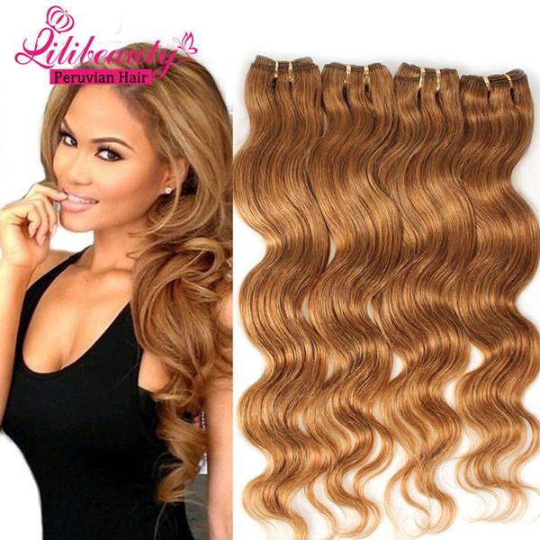 4 Bundles Light Brown Virgin Hair 7a Unprocessed Peruvian Virgin