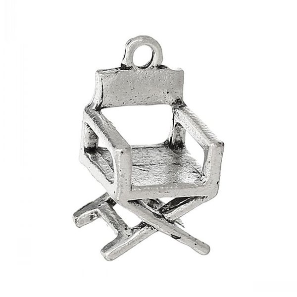 Jewelry Findings Charm Pendants Chair Antique Silver 18mm x 10mm,50PCs