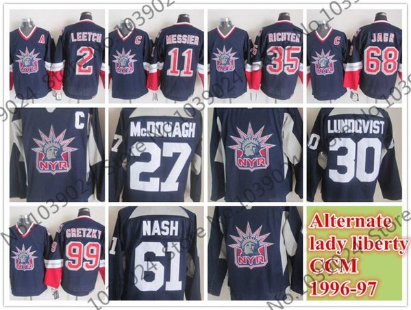 1970974c8 2015 1996-97 New York Rangers Alternate Lady Liberty CCM Jersey Wayne  Gretzky,Henrik