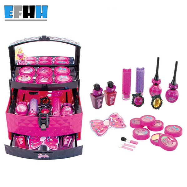 Simulation Dressing Table Princess Toys Cute Children Makeup Set Kids Girls  Simulation Toys Plastic Baby Toy