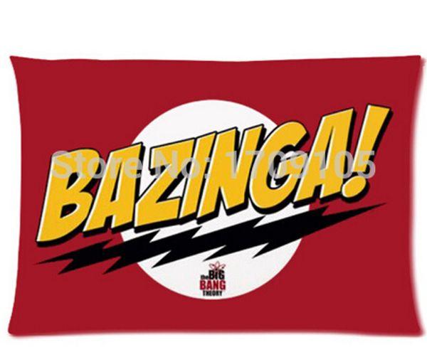Custom Your Photos Funda de almohada cómoda The Big Bang Theory Funda de almohada roja Tamaño estándar 20