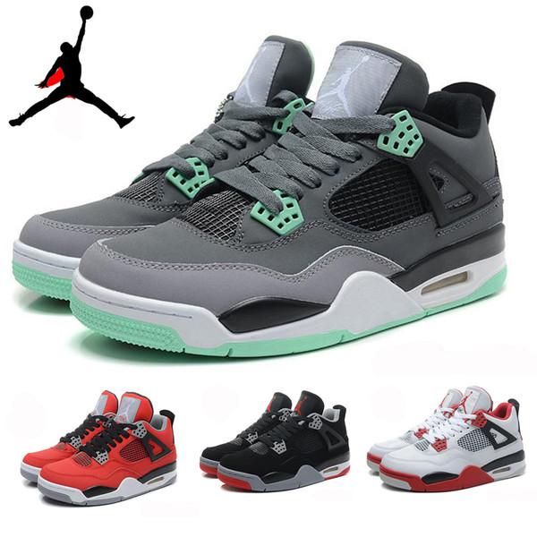 on sale 8c0eb 2507a Nike Air Jordan 4 Retro IV Toro Bravo Bred Green Glow Oreo Donner Herren -Basketball