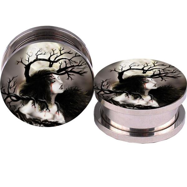 70 unids acero inoxidable árbol niña tornillo oreja medidores de carne pendientes túneles tapones camillas expander piercings envío gratis