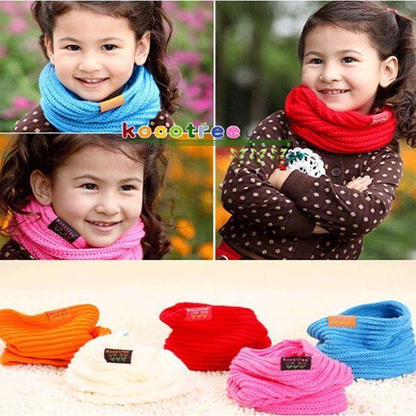 Children's Muffler Baby Warm Scarf Boy /Girl Knitted O Ring Scarf 2015 New Style Designer Knitting Kids Neck Warmer Neckerchief JIA295