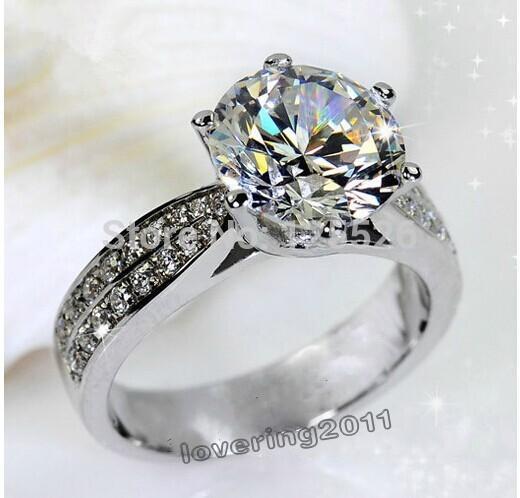 Banda de regalo anillo 001 Victoria Wieck SZ 5-10 compromiso Topaz blanco Diamonique 14KT boda del oro Filled Envío libre