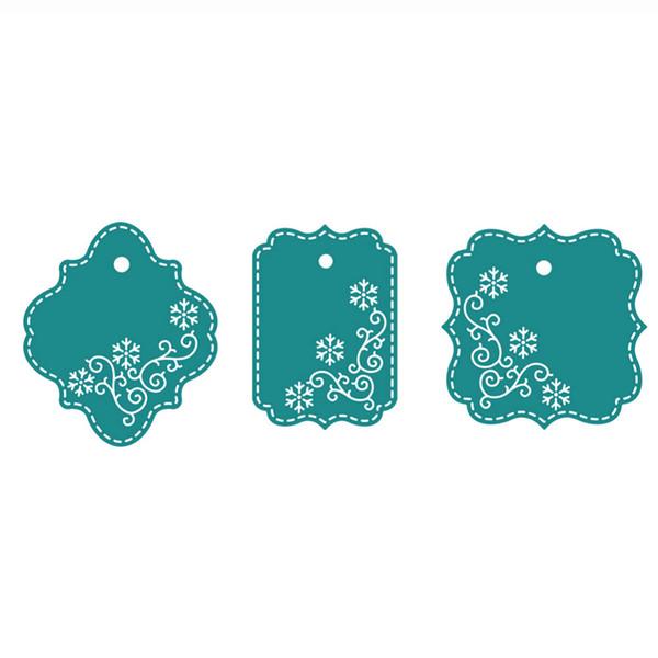 3 unids / set Etiqueta Etiqueta Personalizada Cuchillos de Corte de Metal Cuchillas de Corte de Práctica DIY Scrapbooking Album Craft muere q171128