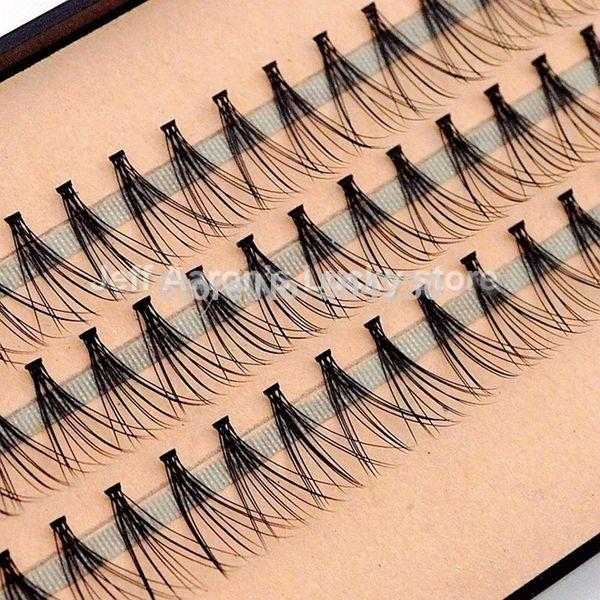 4pcs/lot 57 Flare Black Individual False Eyelashes Tray Eye Lash Extension Kit 14mm 12mm 10mm 8mm Makeup Tools