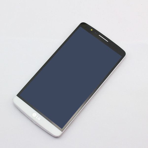 Wholesale-For LG Optimus G3 D850 D851 D855 White New FULL Touch Screen Digitizer Glass + LCD Display Panel Assembly with Frame Replacement