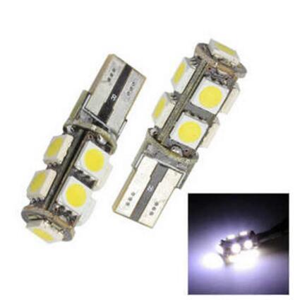 10PCS T10 9SMD 5050 led Canbus Error Free Luces del coche W5W 194 9SMD ERROR DE BOMBILLAS DE LUZ Blanco