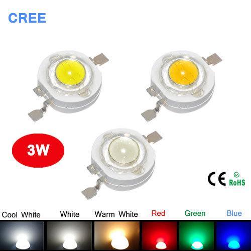 100 adet / grup 3 W Yüksek Güç LED Işık Yayan Diyot Led Çip SMD Sıcak Beyaz Kırmızı Yeşil Mavi Sarı Spot Işık Downlight Lambası ampul