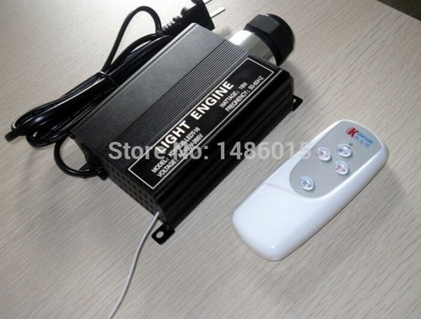 Wholesale-RGB LED 16W Optic Fiber Lights Engine Driver Manchine with Remote Controller Led light illuminator Star Ceiling For pub Party