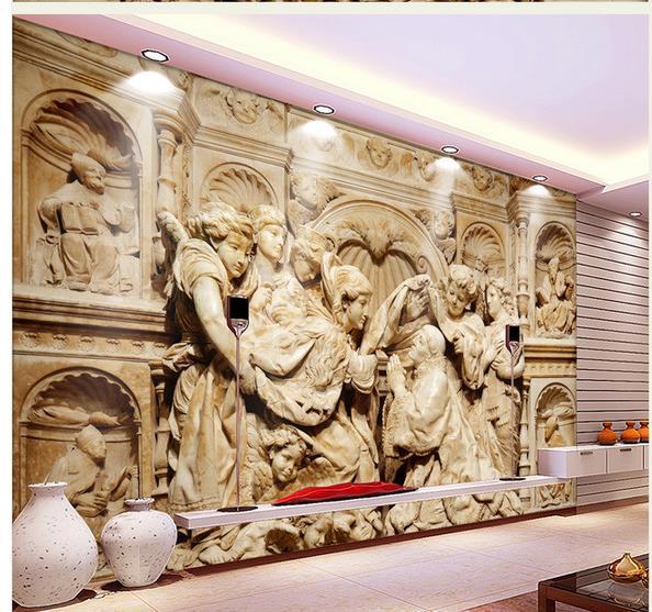 Benutzerdefinierte Fototapete 3D European Relief Sühne Kunst Retro Sofa Hintergrund 3D Tapete 3d Wandbild Tapete 20159951