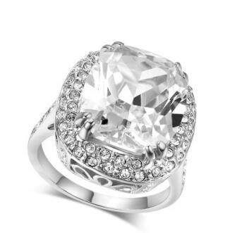 1.50Ct Cushion-Cut Delicated Lad Diamond Halo Engagement Ring 14k white Gold Filled