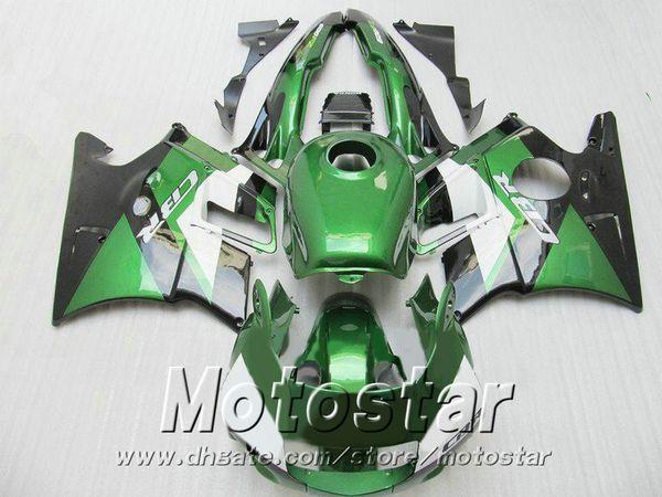 New! Full fairing kit for HONDA CBR 600 F2 1991 1992 1993 1994 black white green fairings set CBR600 91 - 94 aftermarket RF81