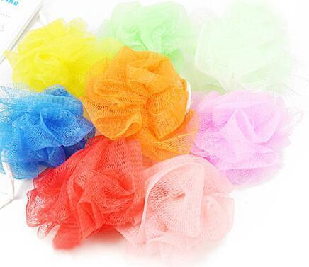 Оптовая 10шт ванна душ тело отшелушивает слоеного губка сетка чистая конфеты цвета сетки губка мягкая ванна кисти губки скрубберы популярные