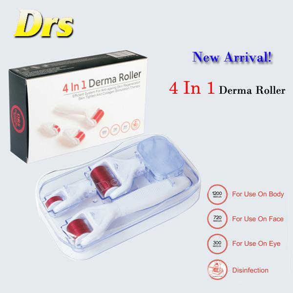 4 Iin 1 Derma Micro Needle Meso Roller Pen Titanium Roller for Wrinkles, Scar, Acne, Cellulite Treatment