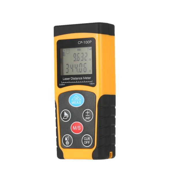 Freeshipping 100m Handheld Digital Laser Distance Meter Range Finder Area Volume Measurement Data Storage with Wide Measurement Range