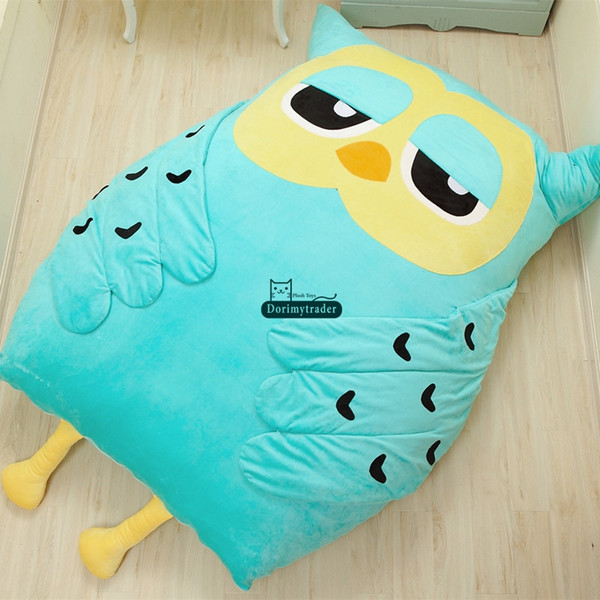 dorimytrader 200cm x 150cm animal owl beanbag soft plush double bed carpet tatami mattress sofa nice gift for babies dy60328