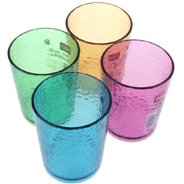 Colorful Acrylic Water Cup Glass Water Mug Iced Tea Cup Tumblers in 4 Assorted Colors 320ml 11.26OZ