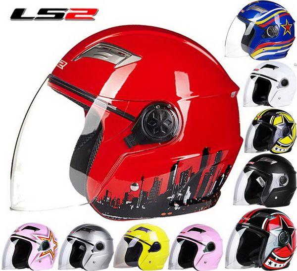 2016 New LS2 Half face motorcycle helmet ABS electric bicycle Motorbike helmets warm winter safety helmets men/women OF501