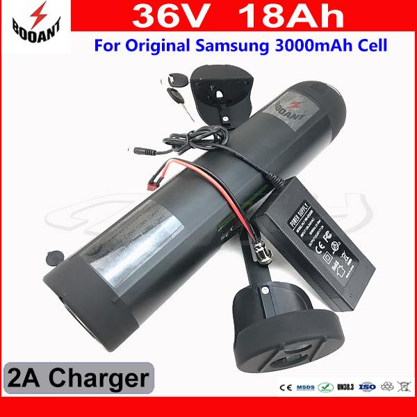 Electric Battery 36V 18Ah For Bafang Motor 800W Lithium Battery 36V Built-in 30A BMS With 2A Charger Original 18650 Cell