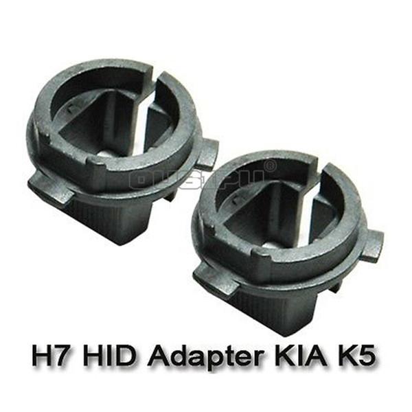 Auto Car A Pair HID Xenon Bulb H7 Headlight Holder Adaptors For Hyundai Kia K5